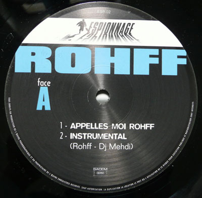 Rohff - Appelles Moi Rohff / Despee (1998)